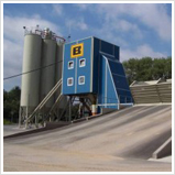 Horizontal concrete batching plants