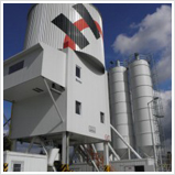 Vertical concrete batching plants